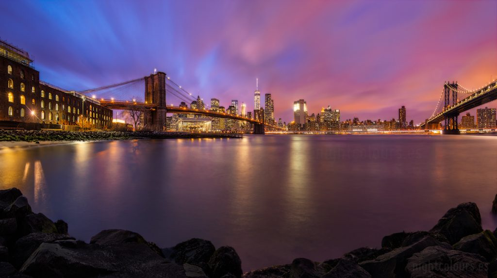 skyline de Manhattan desde Brooklyn