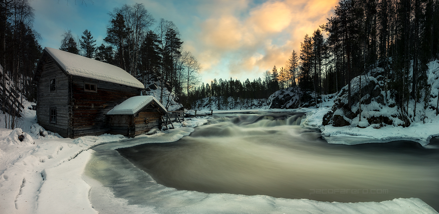 watermill in Lapland