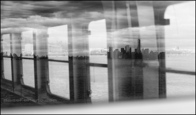 Reflejo del skyline de New York