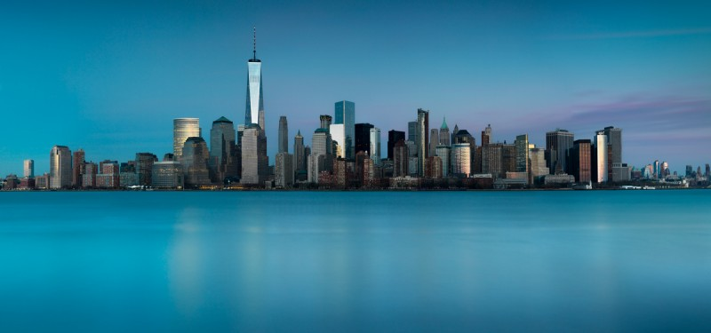 Skyline de Manhattan desde el Empty Sky Memorial