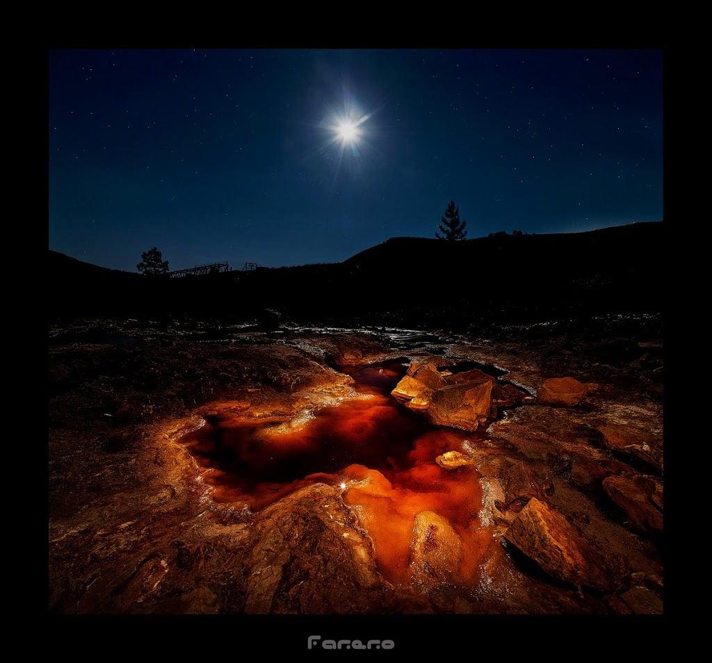 fotografia nocturna y lightpainting en las minas de Riotinto