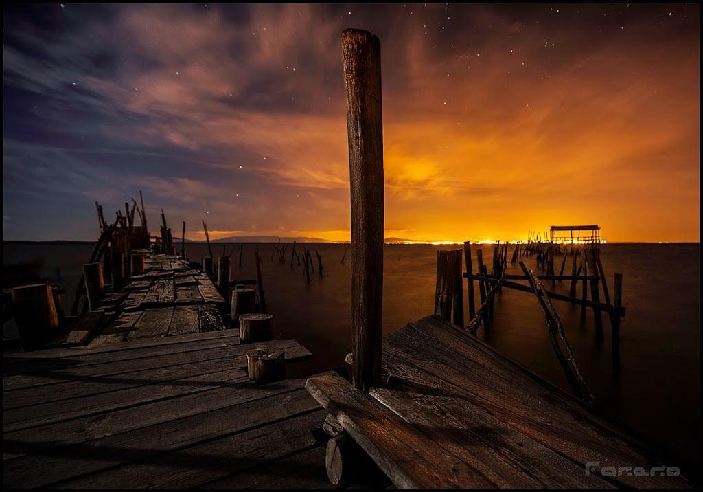 fotografia nocturna y lightpainting en carrasqueira