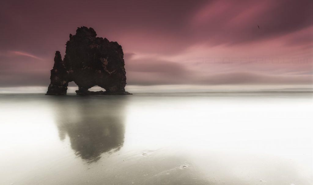 Hvitserkur el dragon de islandia