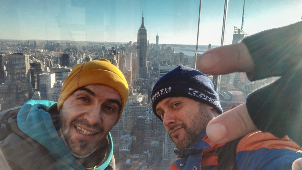 selfie en Top of the rock