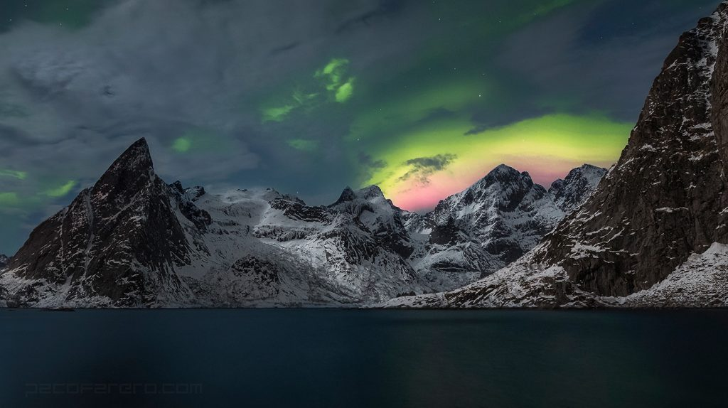 northern light over Lofoten Islands